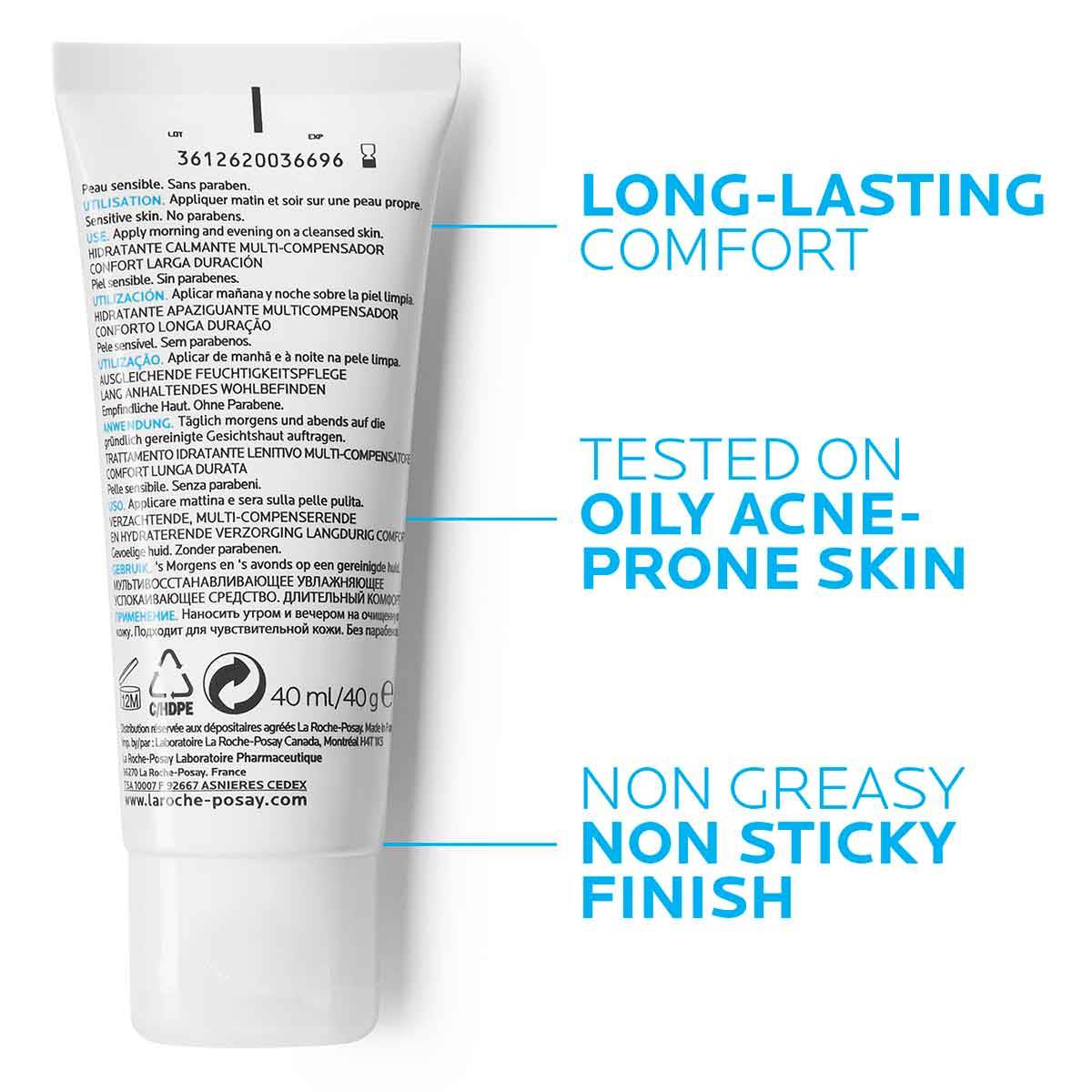 La Roche Posay ProductPage Acne Effaclar H Soothing Moisturizer 40ml 3